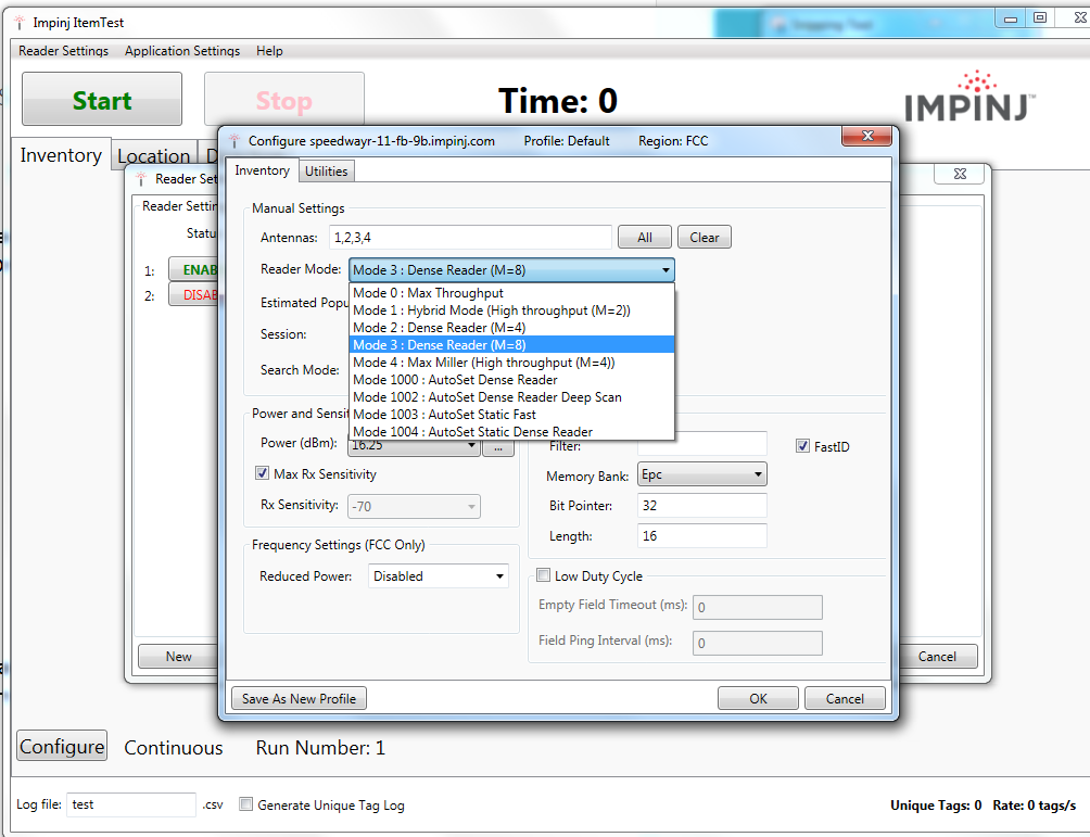 Optimizing Tag Throughput Using ReaderMode – Impinj Support Portal